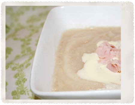 Cauliflowers soup