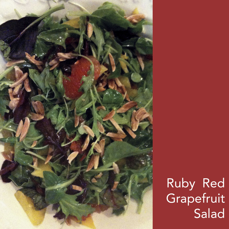 Ruby red grapefruit salad