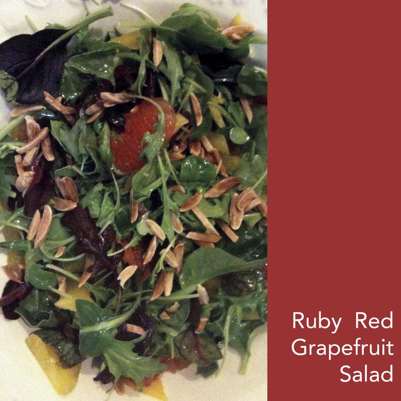 Ruby red grapefruit salad